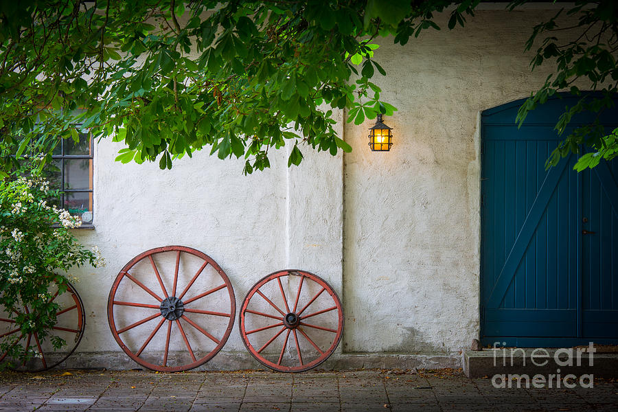 Europa Photograph - Old Wheels by Inge Johnsson