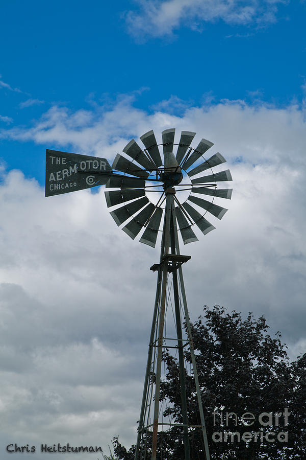 Garden Photograph - Old Windmill by Chris Heitstuman
