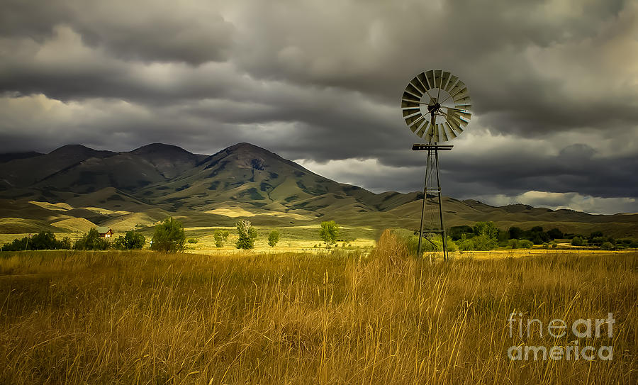 Solider Mountains Photograph - Old Windmill by Robert Bales