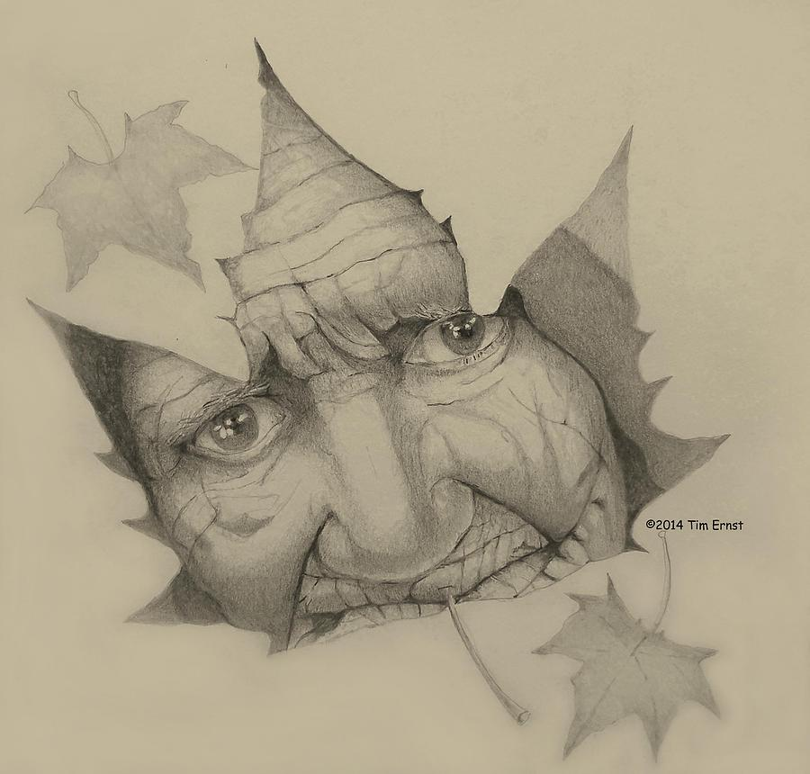 old woman leaf  by Tim Ernst