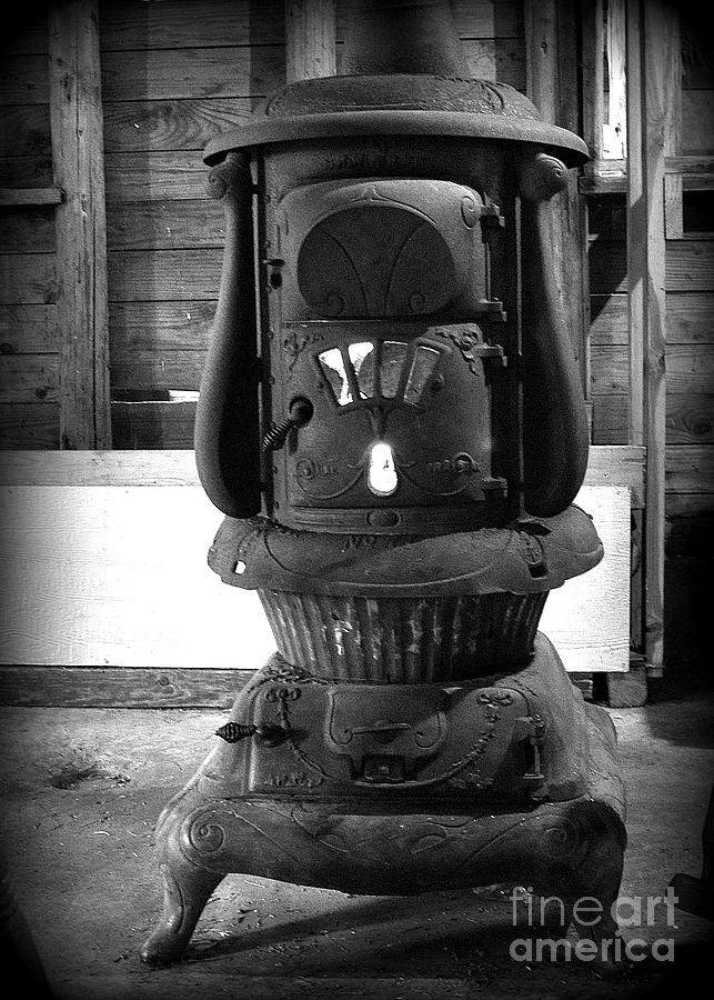 Old Wood Stove 3 Photograph By Tanya Searcy - Vintage Wood Stove WB Designs