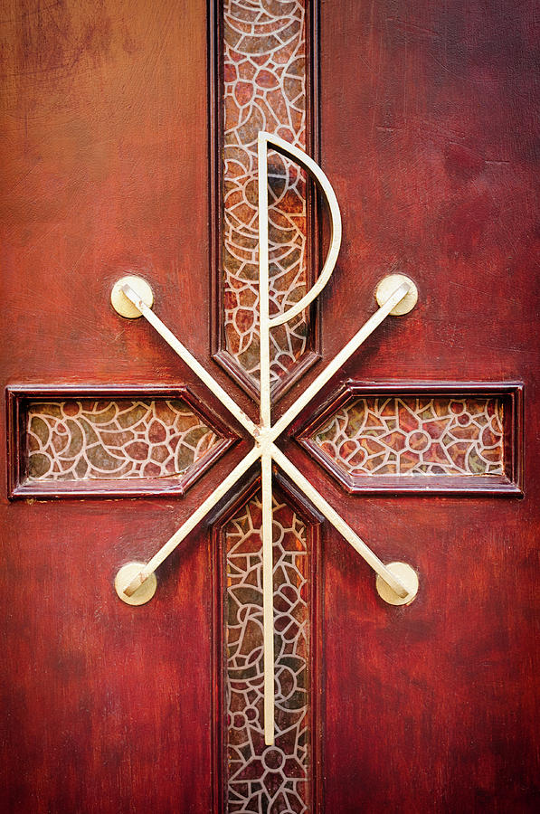 Old Wooden Cemetery Chapel Door Photograph by Maodesign