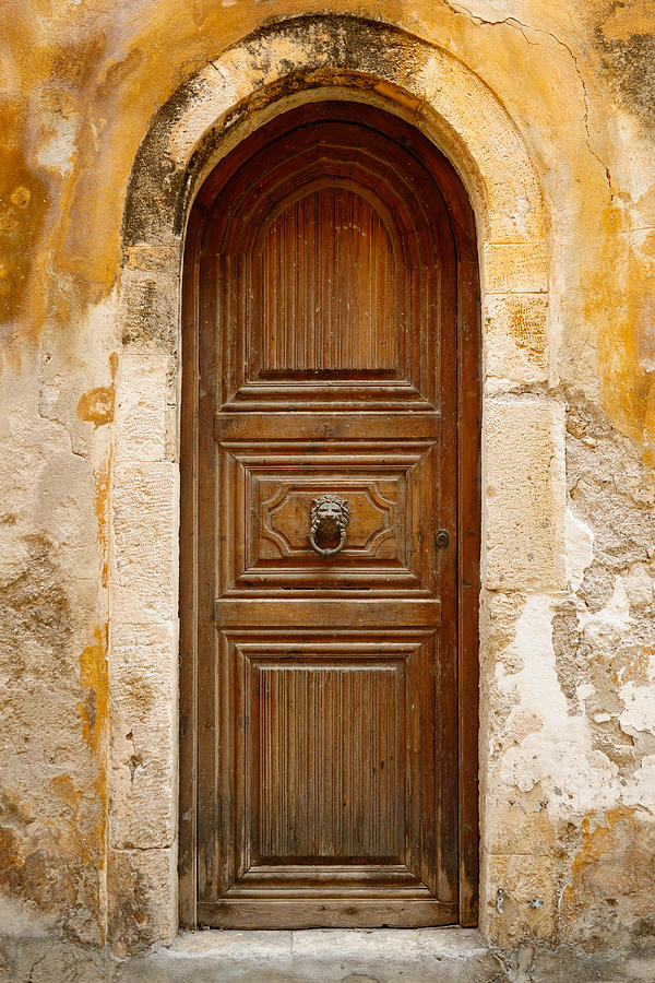 Old Wooden Door In City Of Rethymno Photograph by Windujedi