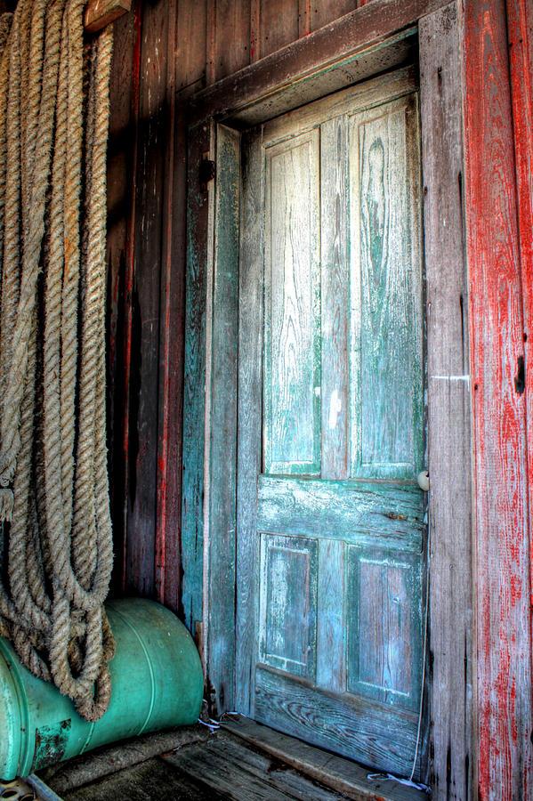 Bon Secour Alabama Photograph - Old Wooden Door by Lynn Jordan