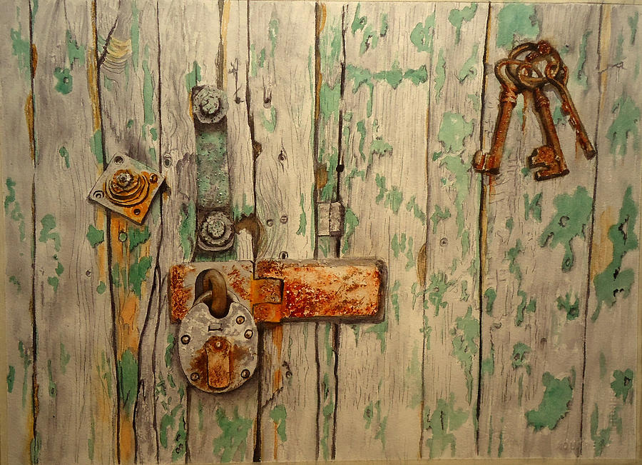 Old Wooden Gate by Sandra Stone