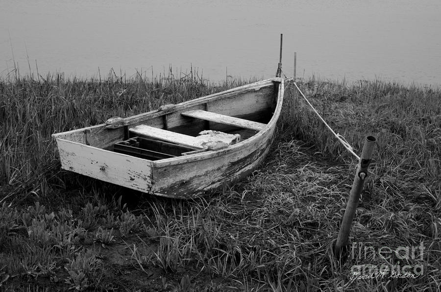 Black Photograph - Old Wooden Rowboat II by Dave Gordon