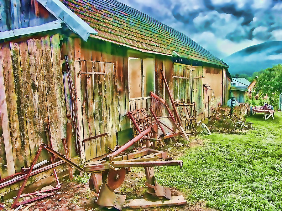 Countryside Digital Art - Old Wooden Shed by Roman Milert