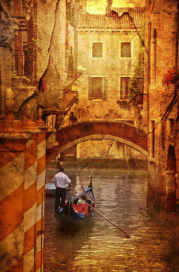 Painting Photograph - Old World Gondola by Greg Sharpe