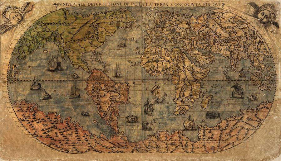 Old World Map Digital Art - Old World Map by Dan Sproul