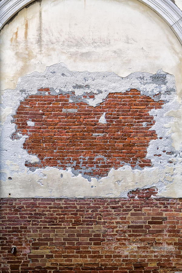 Abandoned Photograph - Old Worn Out Wall In Venice by Francesco Rizzato