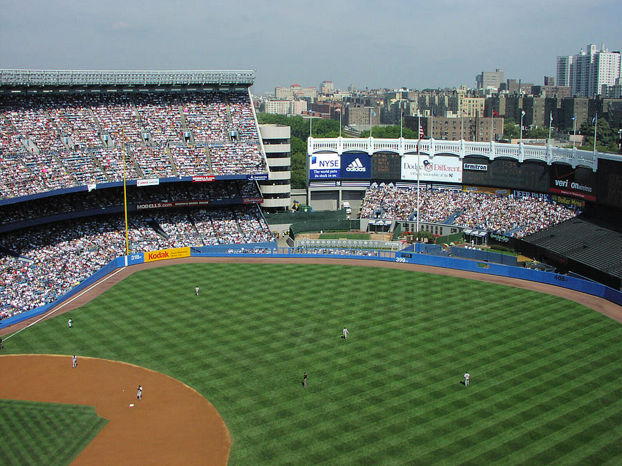 Old Yankee Stadium Outfield Photograph By Mike Martin