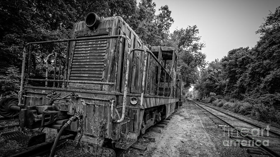 Essex. Train Photograph - Old Yard Switcher Engine Valley Railroad by Edward Fielding