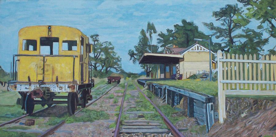 Yarra Glen Painting - Old Yarra Glen Railway Station by Bert Ernie