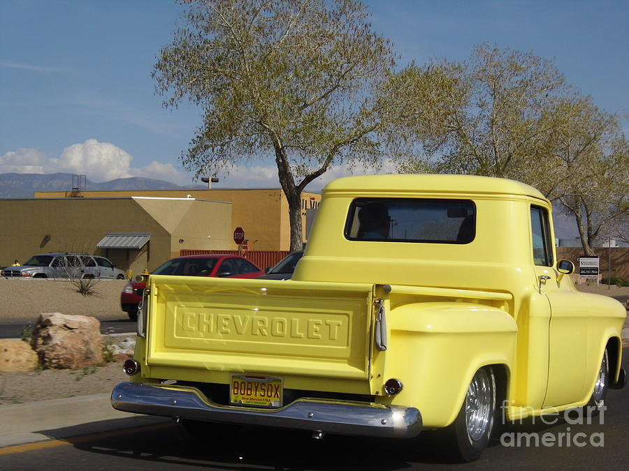 Old Yellow Chevy Truck Photograph by J a Wood
