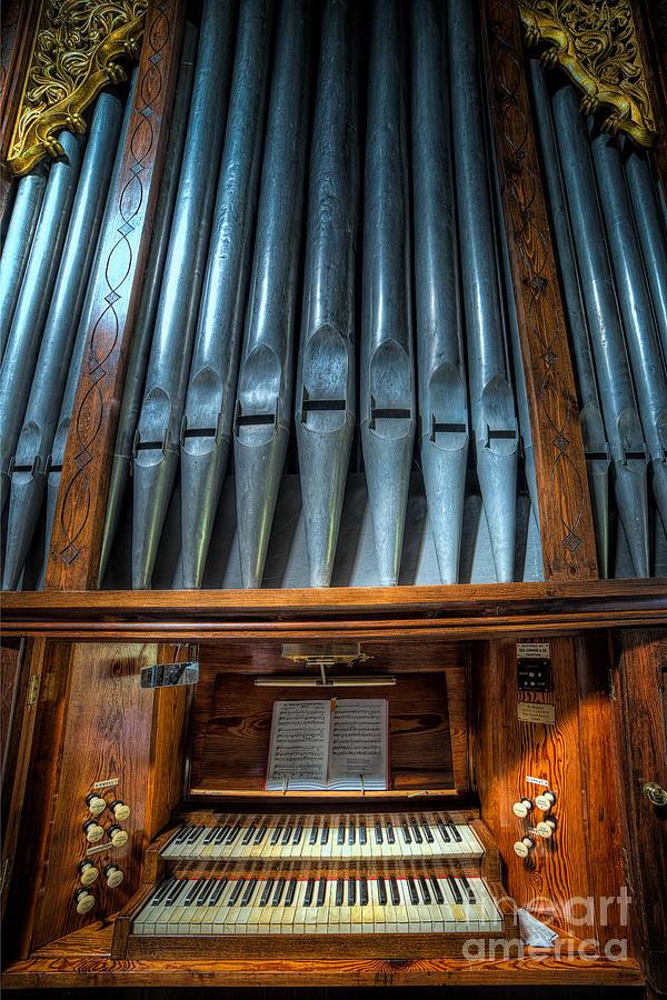 Organ Photograph - Olde Church Organ by Adrian Evans
