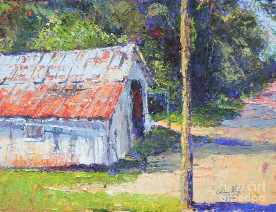 Pole Painting - Olde Shed by Chris Shepherd