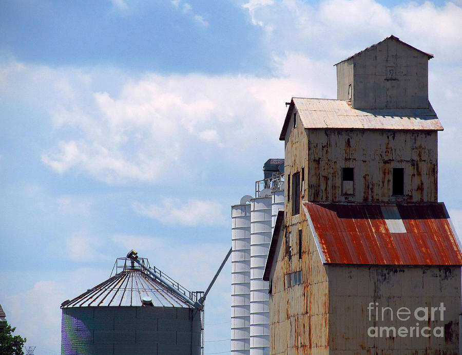 oldest grain elevator foraker Indiana Photograph