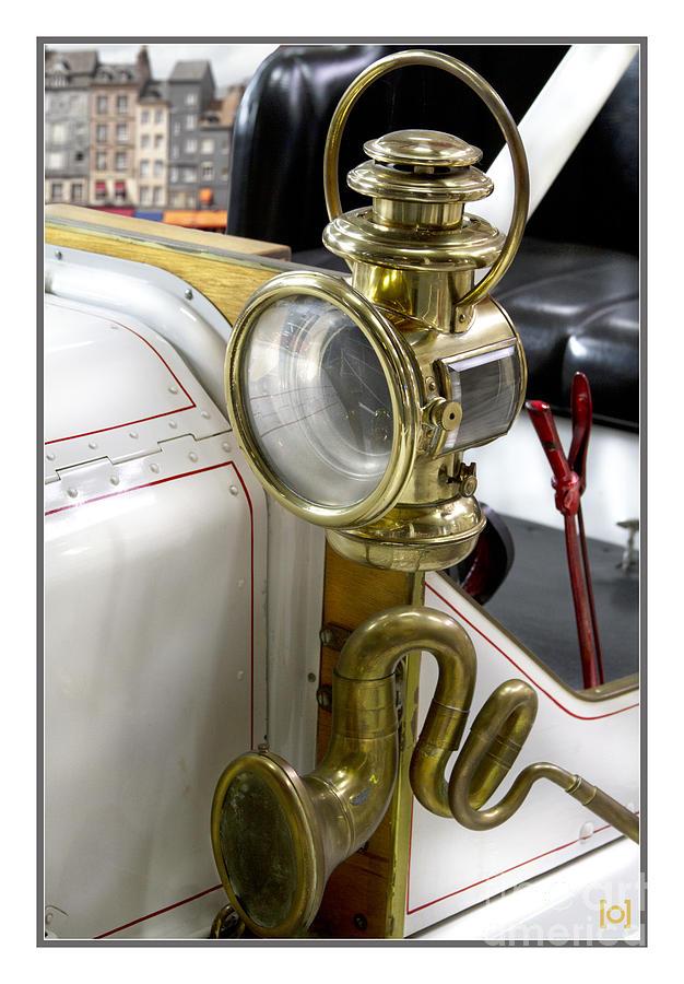 Heiko; Heiko Koehrer-wagner; Koehrer-wagner_heiko; Koehrer; Wagner; Transportation Photograph - Oldtimer Front Light by Heiko Koehrer-Wagner