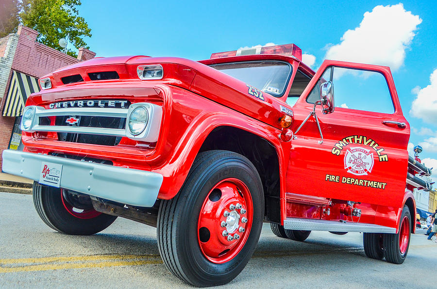 Chevy Photograph - Ole Time Fire Truck Series 1 by Kelly Kitchens