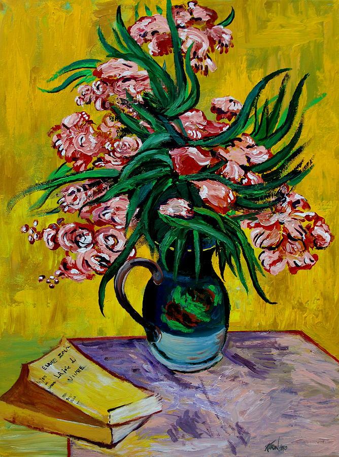 Oleander Painting - Oleanders by Karon Melillo DeVega