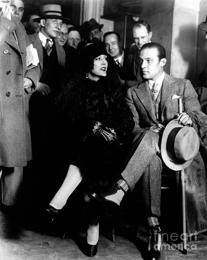 Rudolph Valentino Photograph - Olga Petrova and Rudolph Valentino by Sad Hill - Bizarre Los Angeles Archive