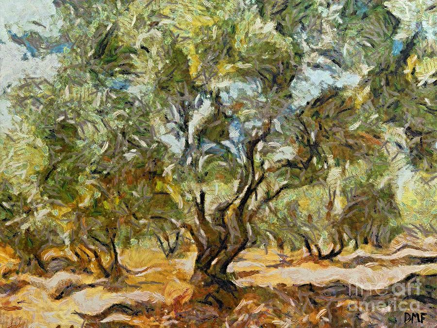 Landscapes Painting - Olive Grove by Dragica  Micki Fortuna