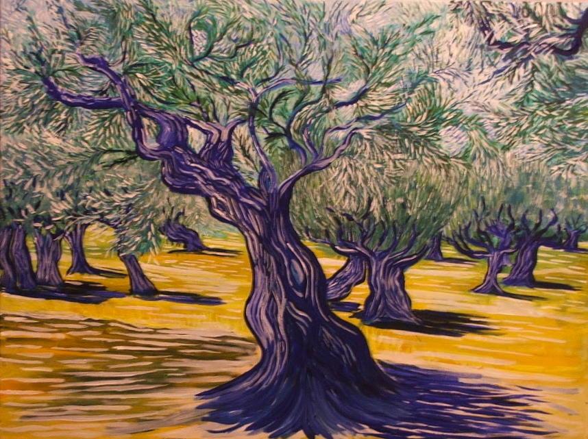 Olive Trees Near Proastio Kardamili Greece Painting by ...