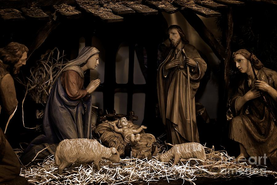 Olive Wood Nativity Photograph