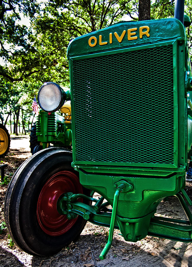Tractor Photograph - Oliver Tractor by Mark Alder