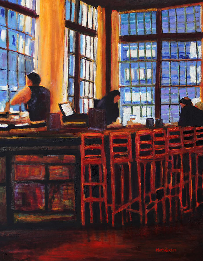 Seattle Painting - Olivers by Marti Green
