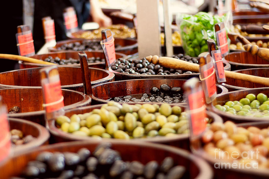 Angsana Seeds Photograph - Olives In Barrels by Ivy Ho