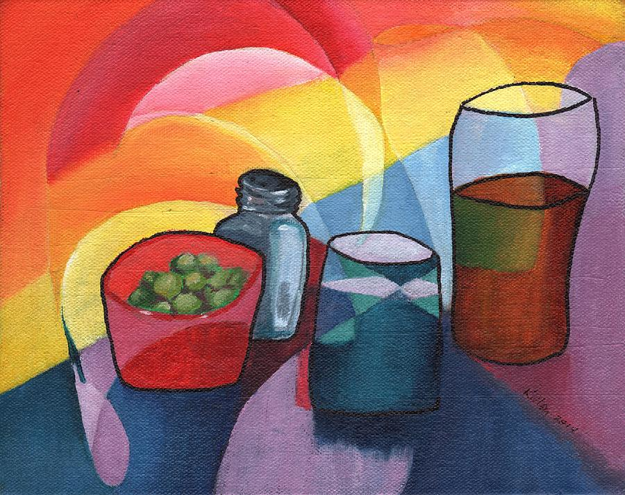 Modern Painting - Olives Salt N Beer by William Killen