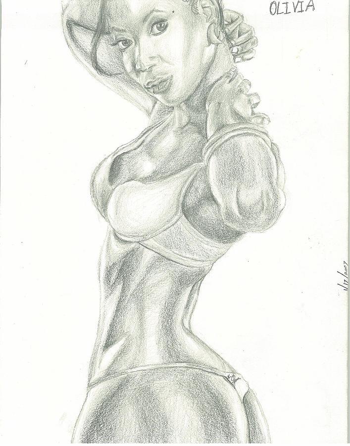 Olivia Drawing by Norman Sparrow