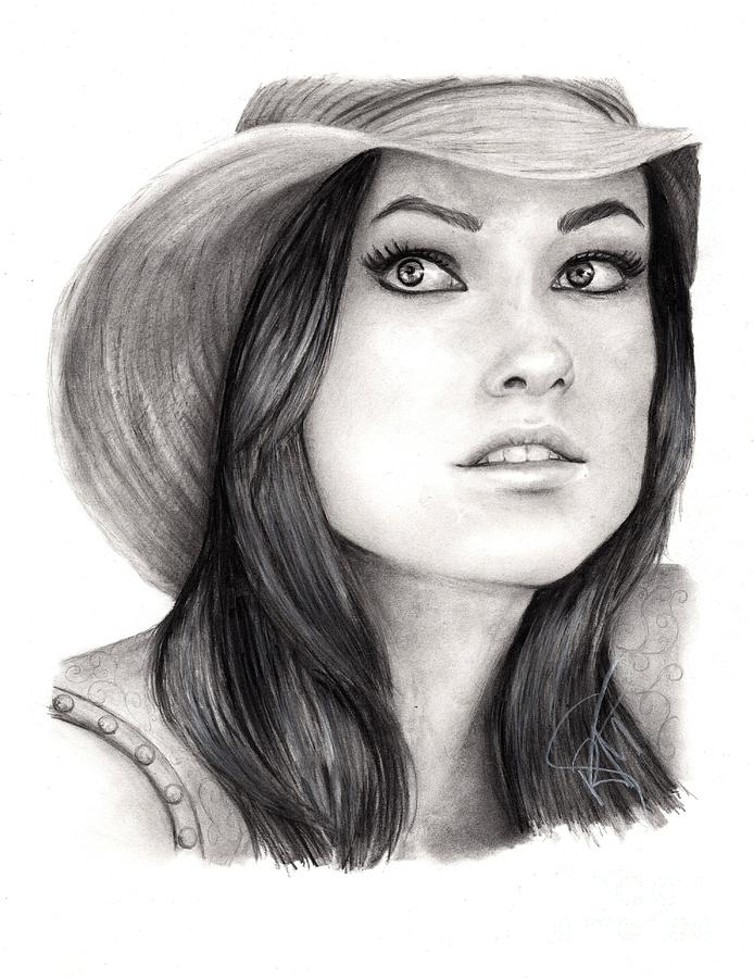 Olivia Wilde Drawing - Olivia Wilde by Rosalinda Markle