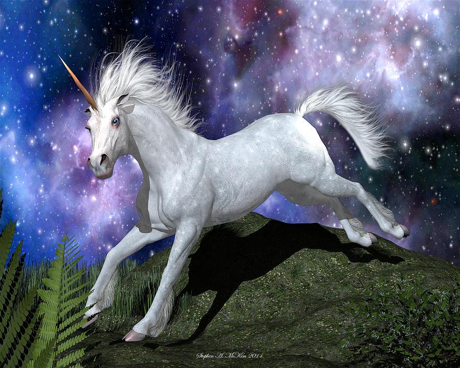 Mckim Digital Art - Olivias Unicorn by Stephen McKim
