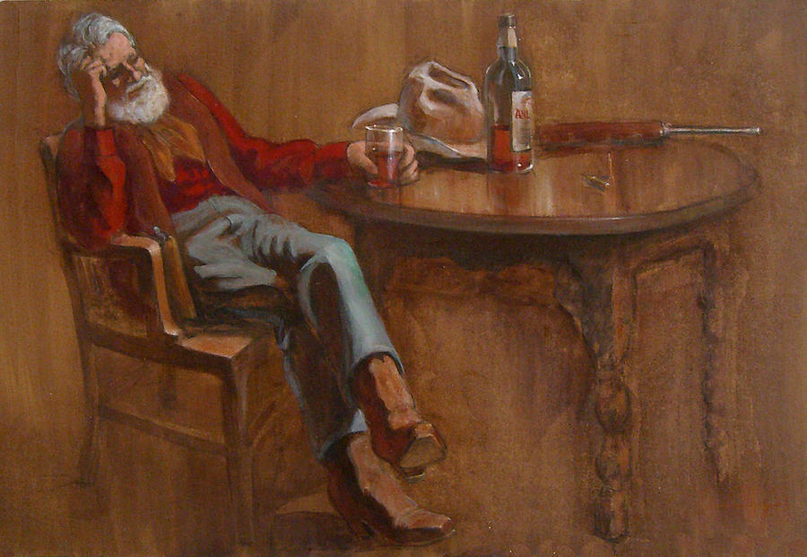 Cowboy Painting - OlTimer by Jack Adams