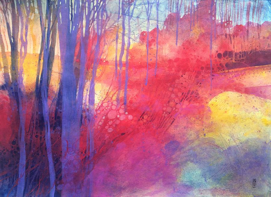 Landscape Painting - Oltre il sentiero dei faggi dautunno by Alessandro Andreuccetti