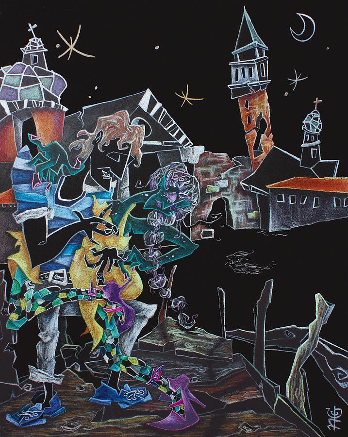 Arte Painting - OltReMaRe - Tango Fantasy Paintings - Contemporary Art by Nacasona by Arte Venezia