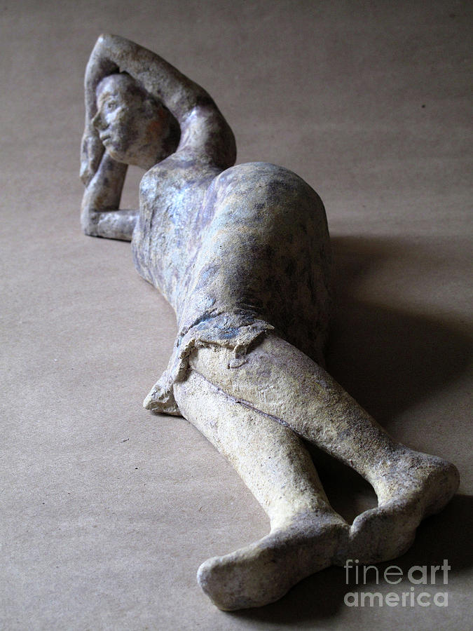 Woman Sculpture - Olympia by Raimonda Jatkeviciute-Kasparaviciene
