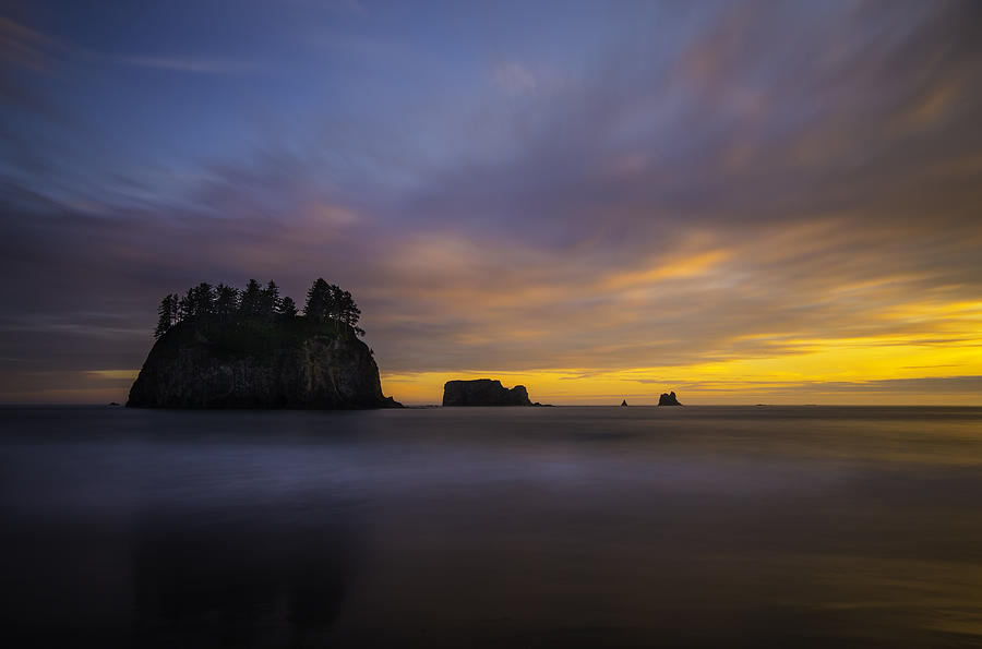 Mt. Baker Photograph - Olympic Coast Sunset by Larry Marshall