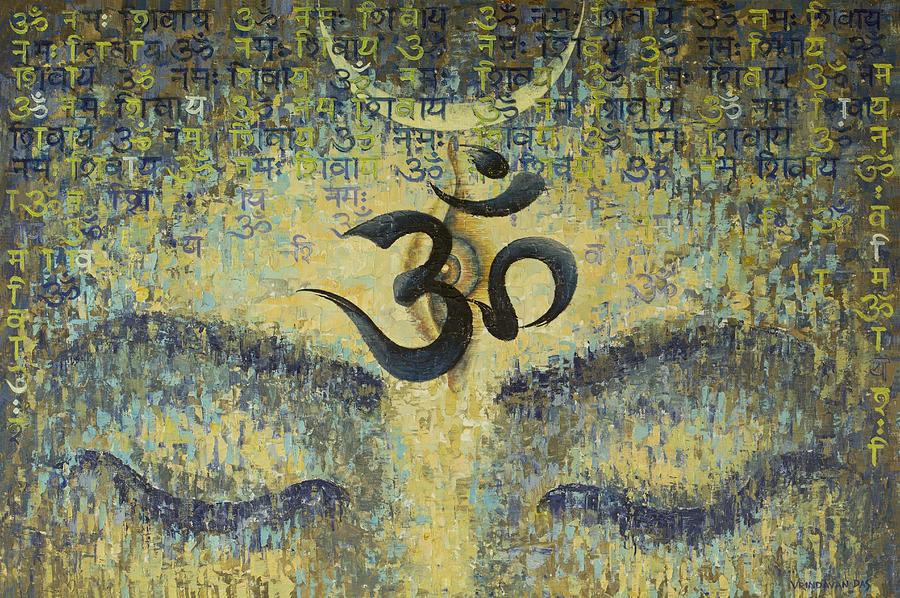 Om Painting - OM by Vrindavan Das