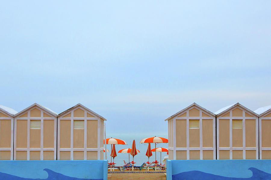 Landscape Photograph - Ombrelloni by Massimo Della Latta