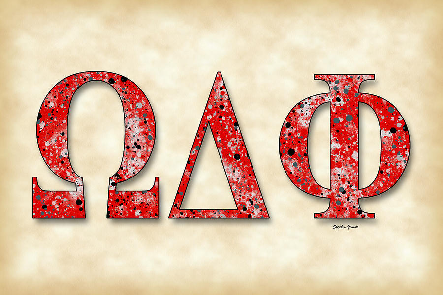 Omega Delta Phi Digital Art - Omega Delta Phi - Parchment by Stephen Younts