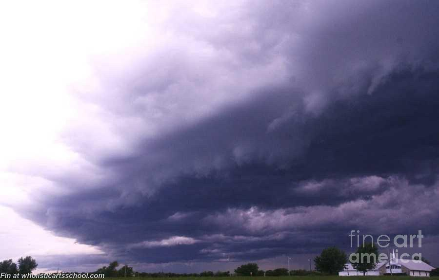 Storms Photograph - Ominous Clouds by PainterArtist FIN