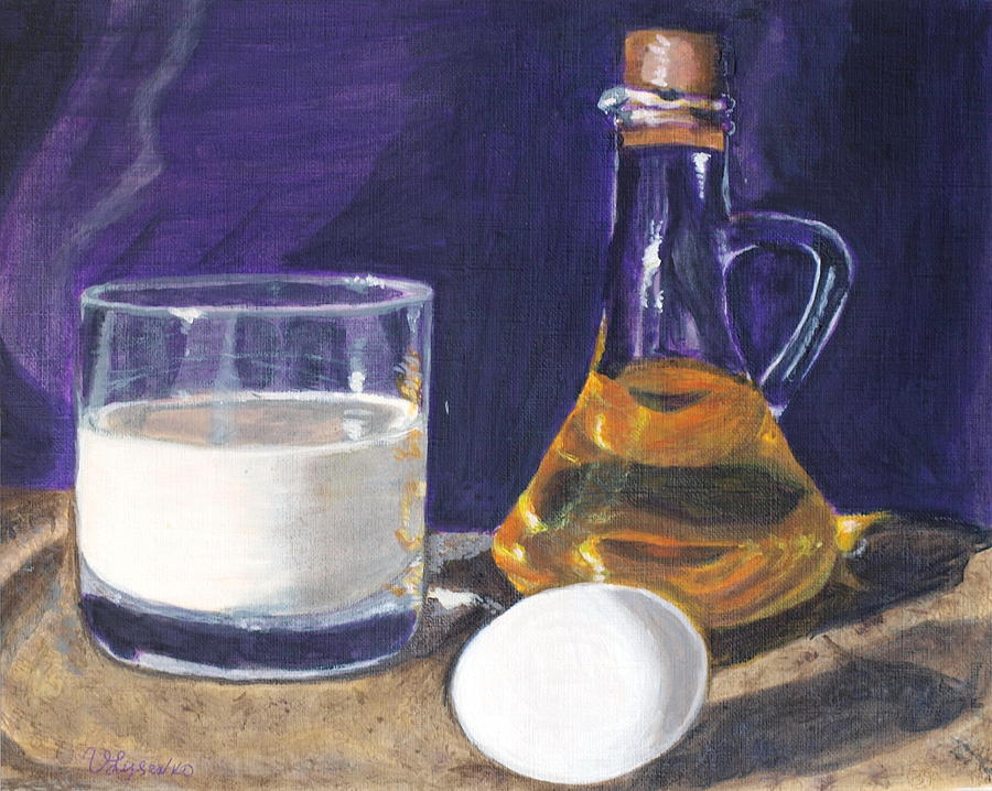 Egg Painting - Omlet by Vera Lysenko