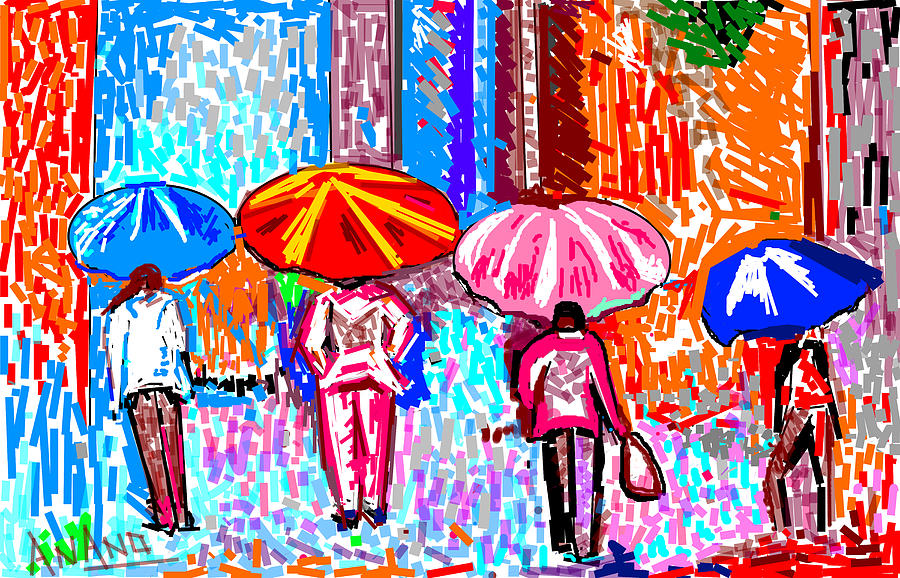 On A Rainy Day Digital Art - On A Rainy Day by Anand Swaroop Manchiraju