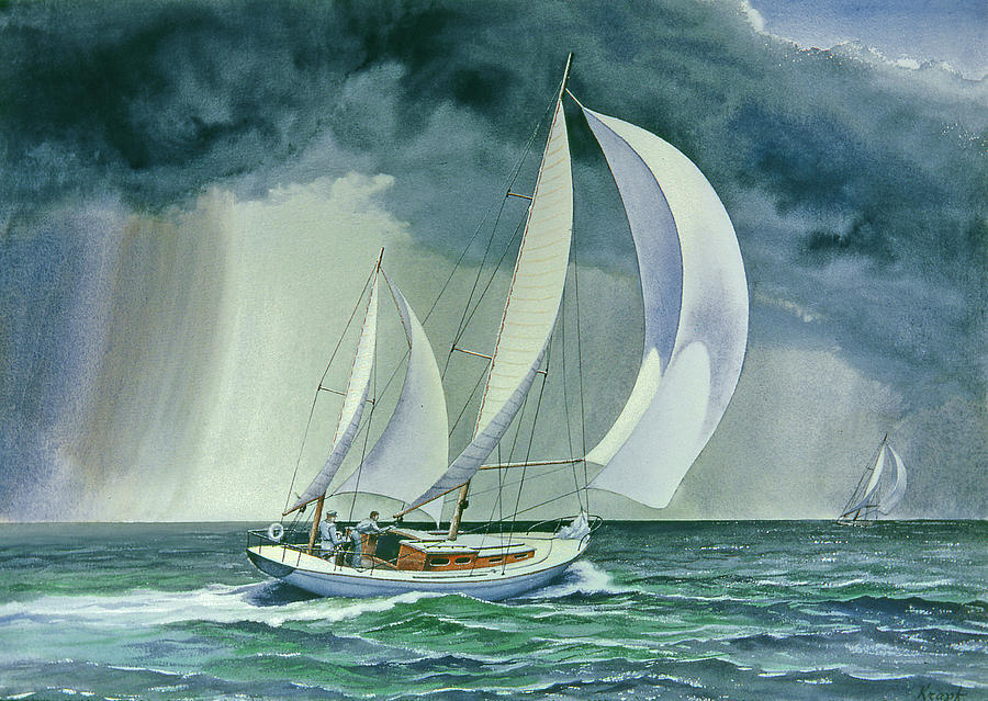 Seascape Painting - On A Reach by Paul Krapf