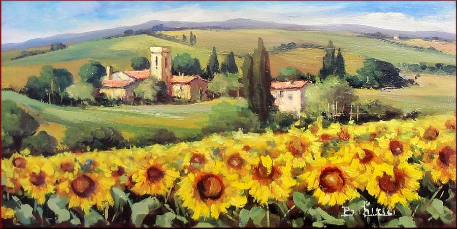 on a tuscany landscape painting by bruno chirici