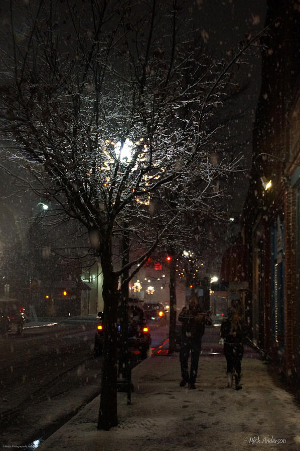 Walk Photograph - On A Walk In The Snow - Grants Pass by Mick Anderson