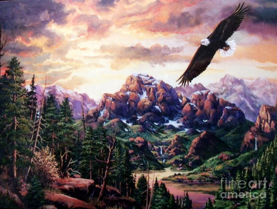 Landscape Painting - On A Wing And A Prayer by W  Scott Fenton